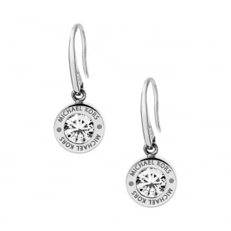 Stainless Steel Cubic Zirconia Earring Drops