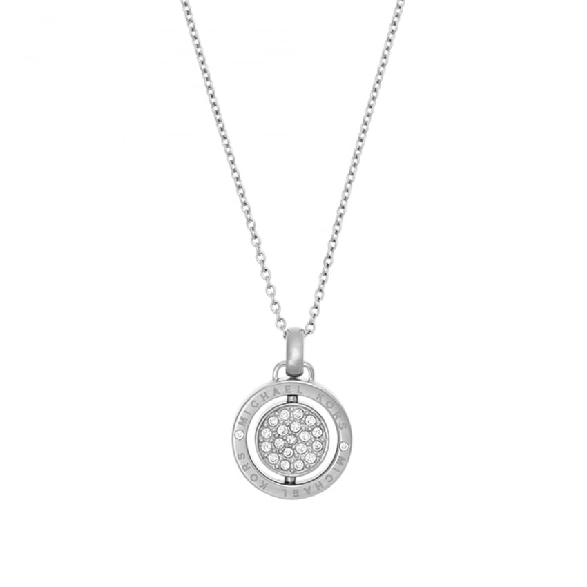 Michael Kors Steel Flip Glitz Reversible Necklace MKJ5657040