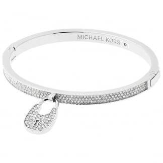 Stone Set Heritage Padlock Bangle