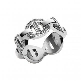 Stone Set Silver Maritime Ring