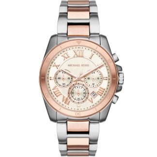 Ladies Two Tone Brecken Chronograph Watch MK6368