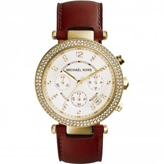 Women's Gold Tone Stone Set Parker Watch MK2249