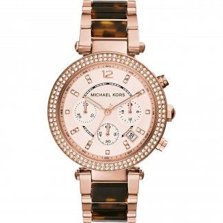 Women's Rose Gold & Tortoiseshell Parker Watch MK5538