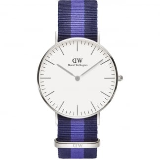 Mid-Sized Swansea Silver 36mm Watch