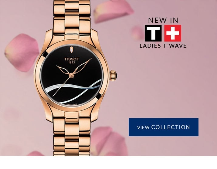New In - Ladies Tissot T-Wave Watches - View the Colletion