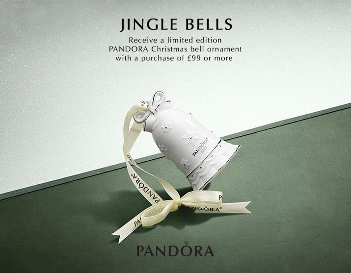 Spend £99 or more on PANDORA to Receive Limited Edition Bell Ornament