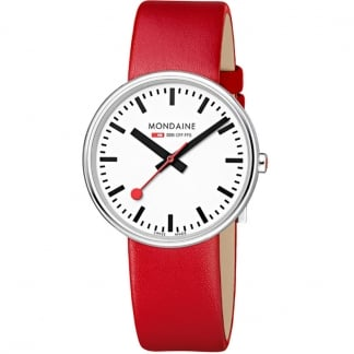 Ladies Red Leather Mini Giant Watch
