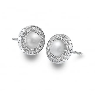 Mother of Pearl Stone Set Giove Earrings