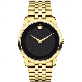 Men's Museum Yellow Gold Plated Watch