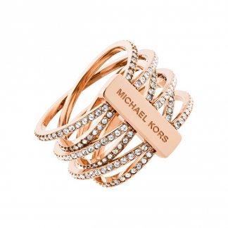 Multi Strand Rose Gold Brilliance Ring MKJ4424791