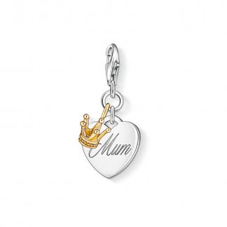 MUM Charm with Gold Crown