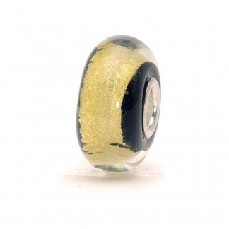 Murano Glass Black Gold Bead