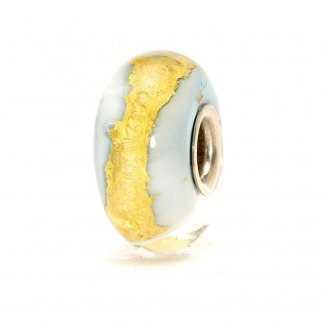 Murano Glass Light Blue Gold Bead 62017
