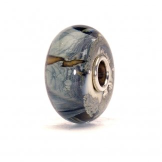 Murano Glass Silver Mountain Bead 62009