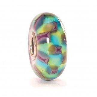 Murano Glass Turquoise/Green Chess Bead 61368