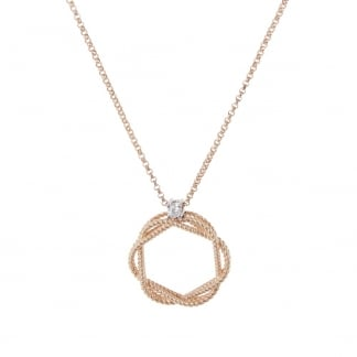 New Barocco Rose Gold Open Pendant