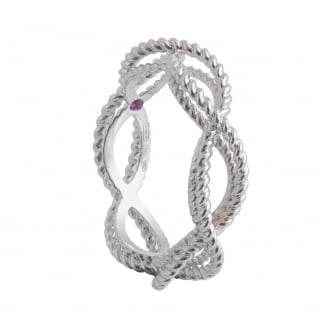 New Barocco White Gold Twist Ring