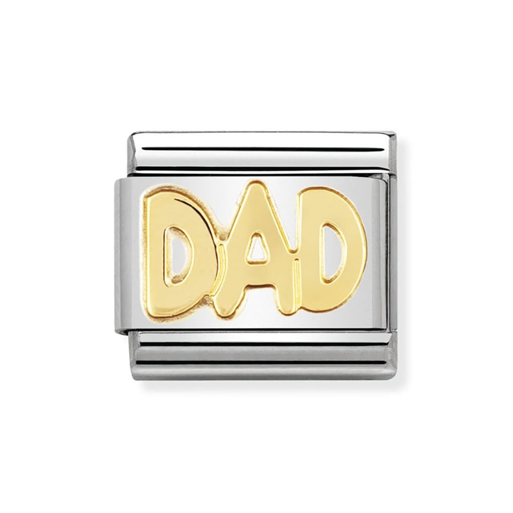 1f2f943ea Nomination Composable Classic Gold 'Dad' Charm Product Code: 030107/11