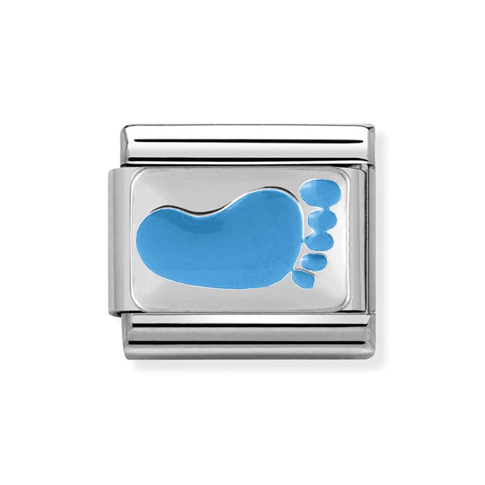 Nomination Composable Classic Silvershine Blue Baby Foot