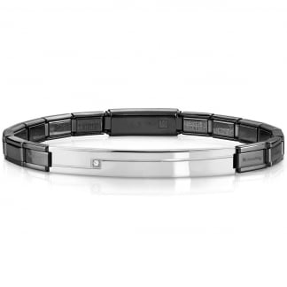 Gunmetal and Steel Trendsetter Bracelet 021117/030