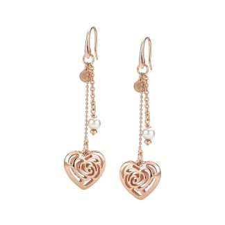 Rose Blush and Pearl Drop Earrings 131408/011