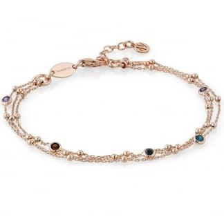 Rose Gold and Multicolour Cubic Zirconia Bella Bracelet 142625/011