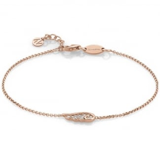 Rose Gold Stone Set Single Wing Bracelet 145320/011