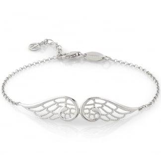 Silver Double Angel Wing Bracelet 145301/010
