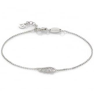 Stone Set Single Angel Wing Bracelet 145320/010