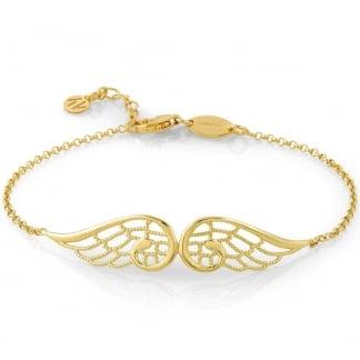 Yellow Gold Double Angel Wing Bracelet 145301/012