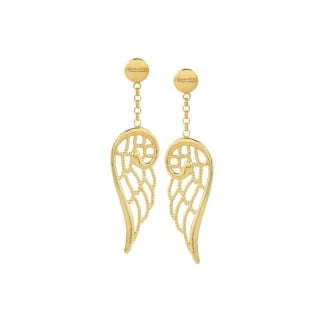 Yellow Gold Plated Angel Wing Earring Drops 145305/012