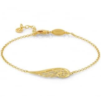 Yellow Gold Single Angel Wing Bracelet 145300/012