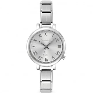 Time Paris Big Silver Ladies Watch