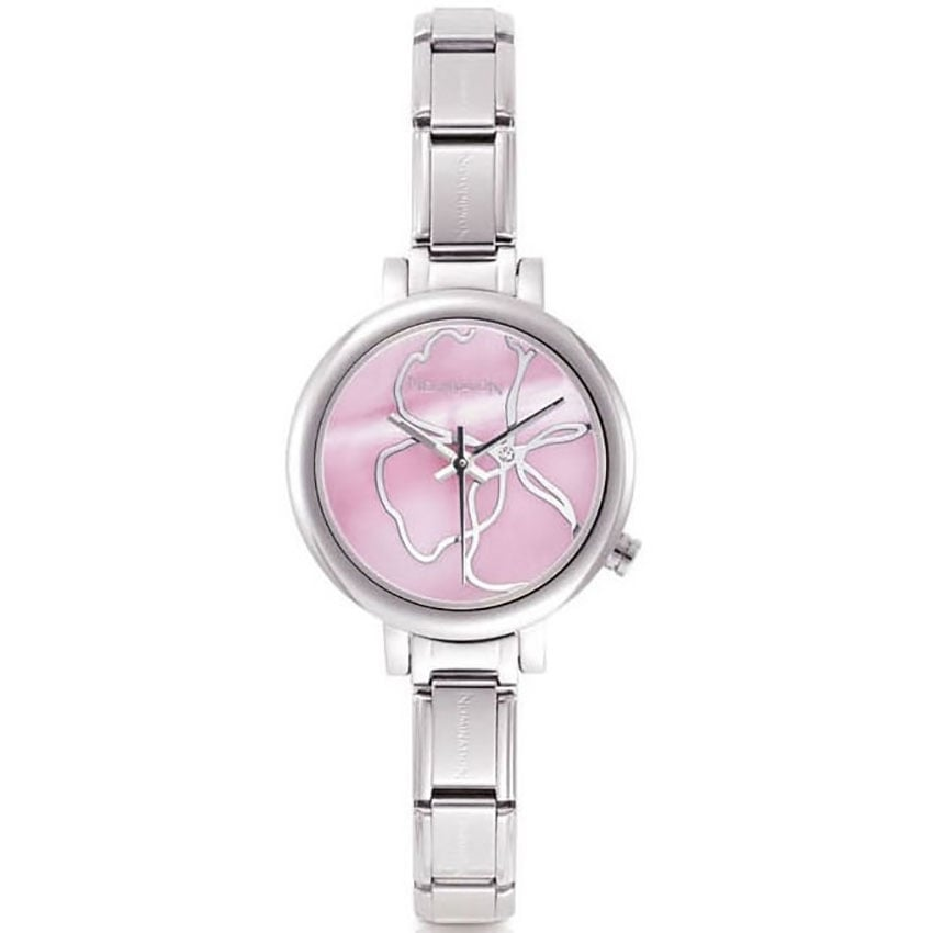 Nomination Time Pink Steel Ladies Charm Watch With Interchangeable Strap 076000/014