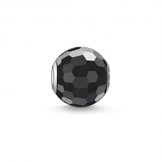 Obsidian, Faceted Karma Bead