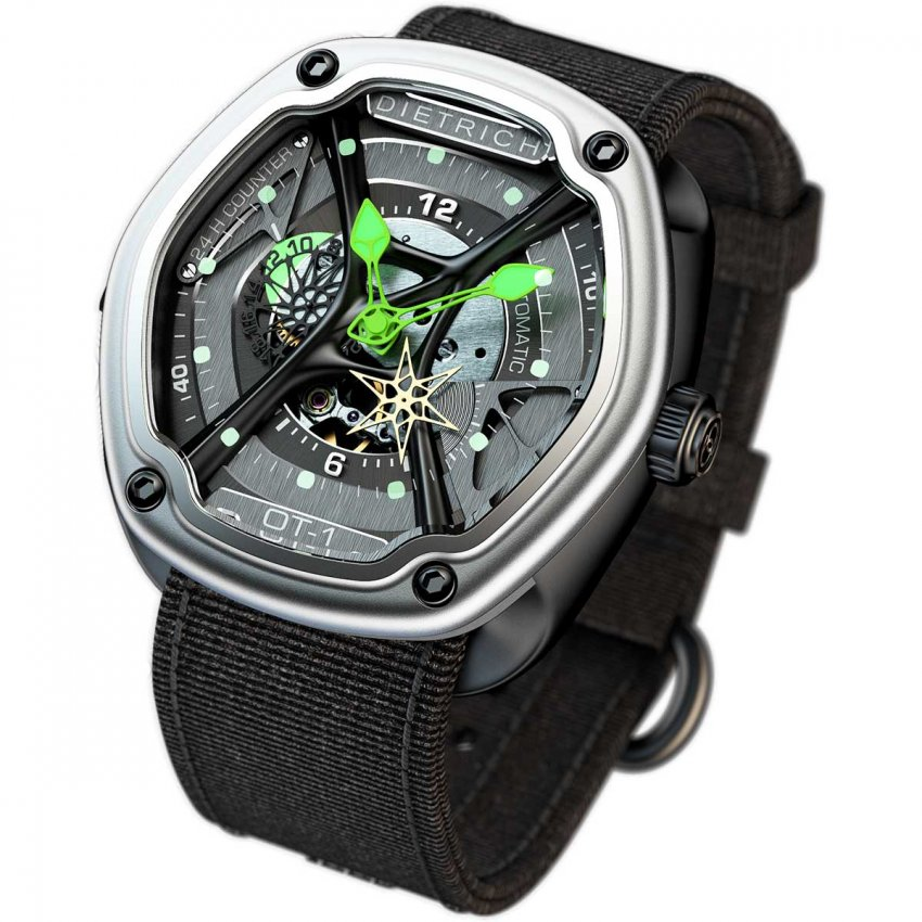 Dietrich Organic Time 1 Green Watch on Black Nylon Strap OT-1