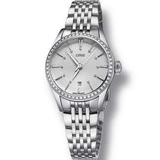 Ladies Artelier Date Automatic Diamond Bezel Watch