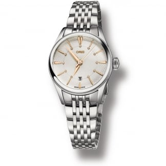 Ladies Artelier Date Diamond Set Steel Bracelet Watch 01 561 7722 4031-07 8 14 79