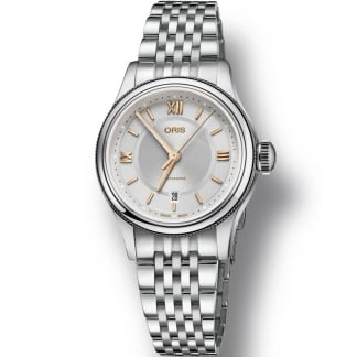 Ladies Classic Date Stainless Steel Automatic Watch