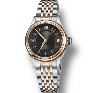 Ladies Classic Date Two Tone Automatic Watch