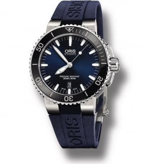 Men's Aquis 300m Automatic Diver's Watch 01 733 7653 4135-07 4 26 35EB