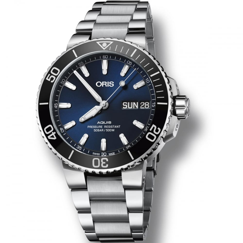 36f03ef4 ORIS Men's Aquis Big Day-Date Automatic Diver's Watch Product Code: 01 752  7733 4135-07 8 24 05PEB