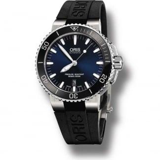 Men's Aquis Blue Sunburst Dial Automatic Diver's Watch 01 733 7653 4135-07 4 26 34EB