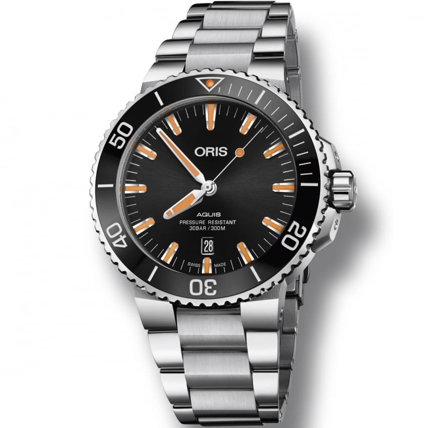 ORIS Men's Aquis Date Automatic Diver's Watch 01 733 7730 4159-07 8 24 05PEB
