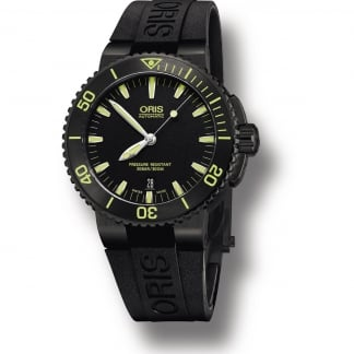 Men's Aquis Date Black PVD Automatic Diver's Watch 01 733 7653 4722-07 4 26 34EB
