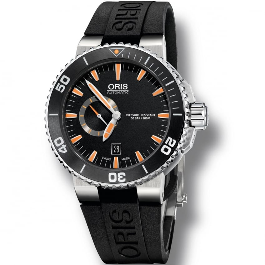 ORIS Men's Aquis Small Second, Date Automatic Diver's Watch 01 743 7673 4159-07 4 26 34EB
