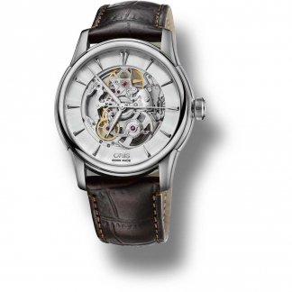 Men's Artelier Skeleton Brown Leather Automatic Watch 01 734 7670 4051-07 5 21 70FC