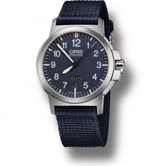 Men's BC-3 Advanced Day-Date Blue Canvas Automatic Watch