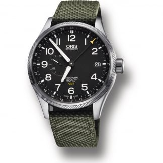 Men's Big Crown ProPilot GMT Small Second Olive Strap Watch