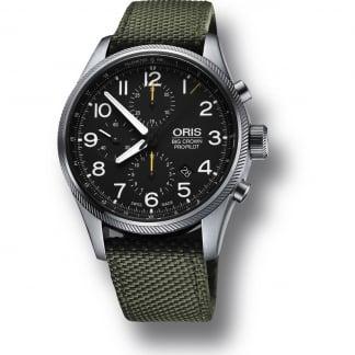 Men's Big Crown ProPilot Green Canvas Chronograph Watch 01 774 7699 4134 07 5 22 14FC